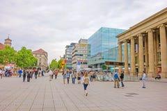 Zakupy deptak Konigstrasse, Stuttgart Zdjęcia Stock