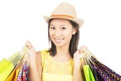 Zakupy dziewczyna zdjęcia stock