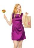 Zakupy dziewczyna Obrazy Royalty Free