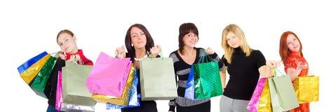 zakupy grupy kobiet zdjęcie royalty free