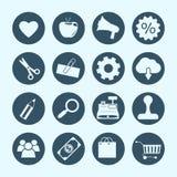 Zakupy i handlu elektronicznego ikony Obrazy Royalty Free