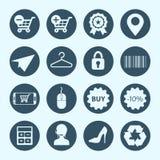 Zakupy i handlu elektronicznego ikony Obraz Royalty Free