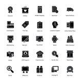 Zakupy i handlu ikony Zdjęcie Royalty Free