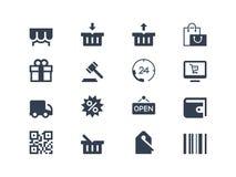 Zakupy ikony ilustracja wektor