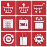 Zakupy ikony Zdjęcie Royalty Free