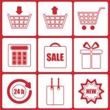 Zakupy ikony Zdjęcia Stock