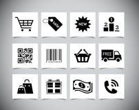 Zakupy ikony Fotografia Royalty Free