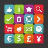 Zakupy ikony Obrazy Stock