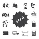 Zakupy ikony ustawiać, Obrazy Royalty Free