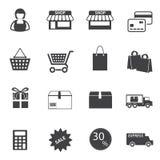 Zakupy ikony ustawiać, Fotografia Royalty Free