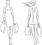 Zakupy kobiety ilustracja wektor