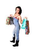 zakupy kobiety potomstwa Zdjęcie Stock