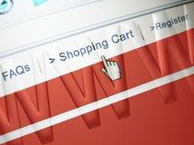 zakupy on - line Zdjęcie Stock