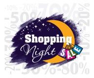 Zakupy nocy sprzedaży wektoru ikona Obraz Royalty Free