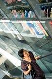 zakupy okno kobieta Zdjęcia Stock