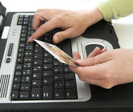 zakupy online ii obraz stock
