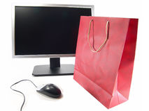 zakupy online internetu Zdjęcie Royalty Free