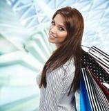 zakupy piękna kobieta Zdjęcie Stock