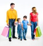 zakupy rodziny obrazy stock