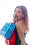 zakupy shopaholic kobieta Obrazy Stock