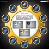 zakupy szablonu strona internetowa Fotografia Royalty Free