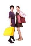 zakupy szczęśliwe kobiety Obrazy Royalty Free