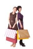 zakupy szczęśliwe kobiety Obraz Royalty Free