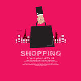 Zakupy turystyka. Fotografia Stock