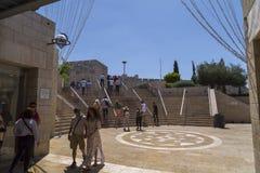 Zakupy ulica Alrov Mamilla aleja, Jerozolima fotografia royalty free