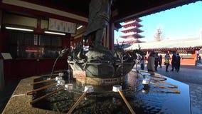 Zakupy ulica lub Nakamise Sensoji świątynia, Tokio zbiory wideo