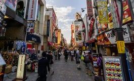 Zakupy ulica w Tokio Zdjęcie Stock