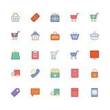 Zakupy Wektorowe ikony 1 Zdjęcia Royalty Free