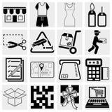 Zakupy wektorowe ikony ustawiać. Fotografia Royalty Free