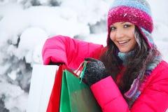 zakupy zima Obrazy Stock