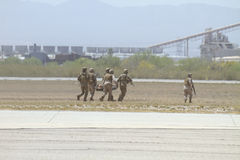 zakurzona ewakuacyjna morska jednostka wojskowa usa Zdjęcia Royalty Free