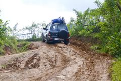 Zakurzona safari droga w Madagascar Fotografia Stock
