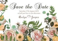 Zakurzone menchie, śmietankowa antyk róża, bladego kwiatu wektorowego projekta ravp ślubna rama Kwiaty, eustoma, brunia, paproć,  ilustracja wektor