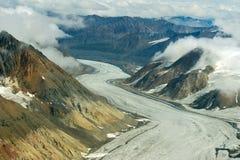 Zakurzony lodowiec w Kluane parku narodowym, Yukon 03 Obrazy Stock