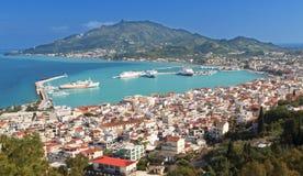 Zakynthos海岛在希腊 免版税库存照片