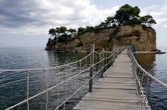 Zakynthos. A long bridge on Zakynthos Island royalty free stock photography