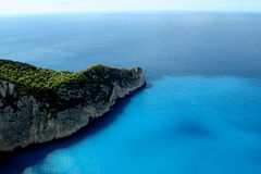 Zakynthos. View from Zakynthos island cost Royalty Free Stock Photography