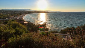 Zakynthos bay timelapse. Beautiful full HD timelapse video of a summer sunset looking over the bay of Tsivili on the island of Zakynthos, Greece stock video