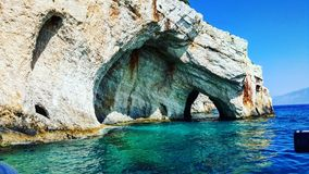 Zakynthos blue caves Royalty Free Stock Photo