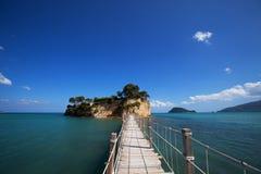 Zakynthos, a bridge to the island Stock Photos