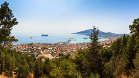 Zakynthos city view Royalty Free Stock Images