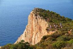 Zakynthos cliffs royalty free stock photo