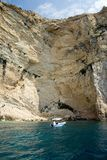 Zakynthos clifs Stock Photography