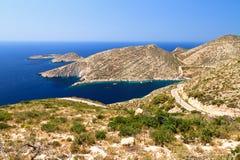Zakynthos coastline view Royalty Free Stock Photography