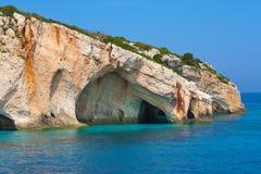 Zakynthos, Greece - Amazing Blue Caves Stock Photography