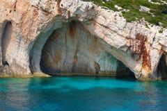 Zakynthos, Greece - incredible Blue Caves Stock Photos